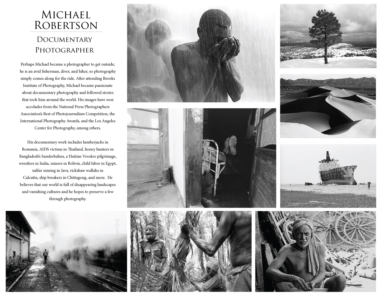 Photography Michael Robertson, Global Eye Art Collective, Global Eye Photography, Documentary Black and White Travel Stock